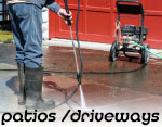 Patio and driveway cleaning